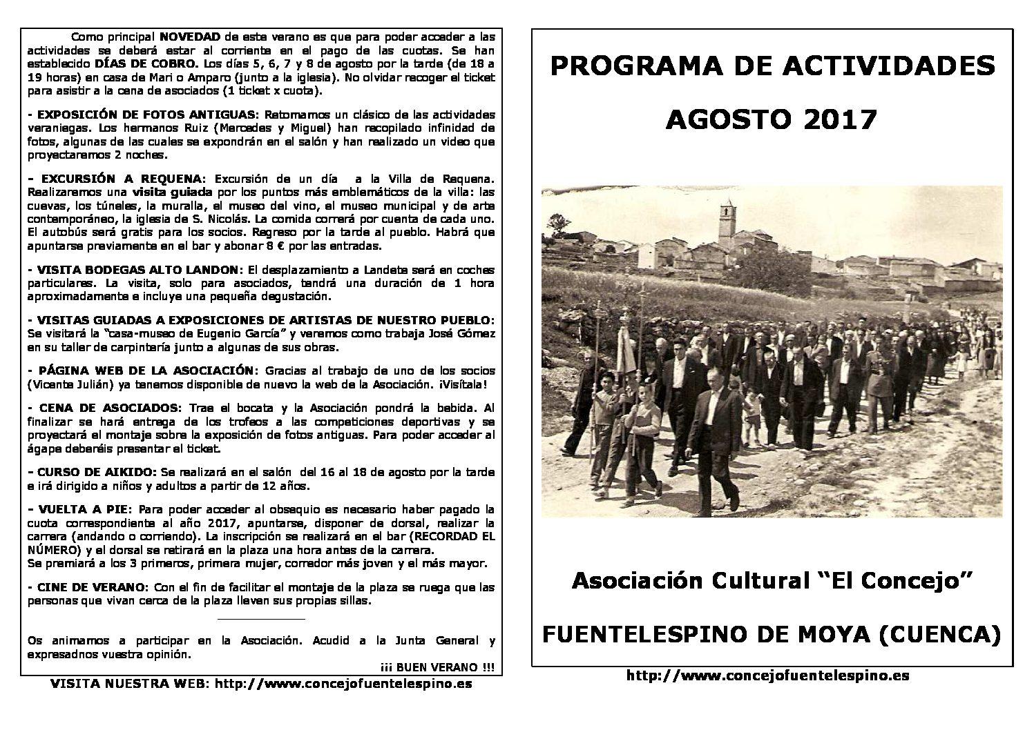 Actividades verano 2017